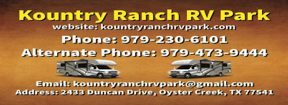 Kountry Ranch RV Park Business Card Front